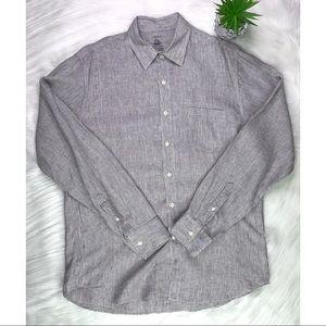 mens - J. CREW shirt - L - BAIRD McNUTT - CLASSIC